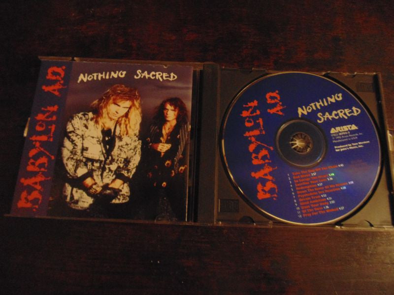 Babylon A.D. - CD - Nothing Sacred, BMG Pressing, 1992, AD