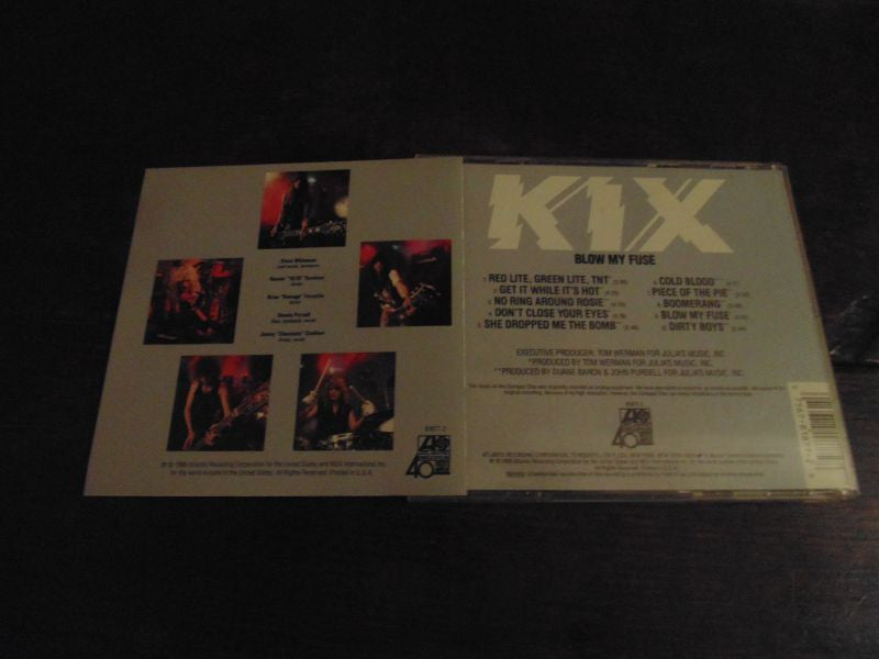 Kix, CD, Blow My Fuse, 1988 Atlantic, Don't Close Your Eyes