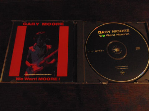 Gary Moore CD, We Want Moore, Live in Concert, Thin Lizzy, Virgin Records