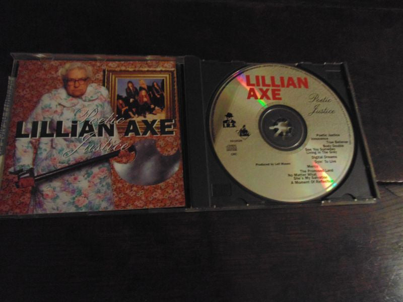 Lillian Axe CD, Poetic Justice, 1992 Grand Slam Records, MINT, No promo hole