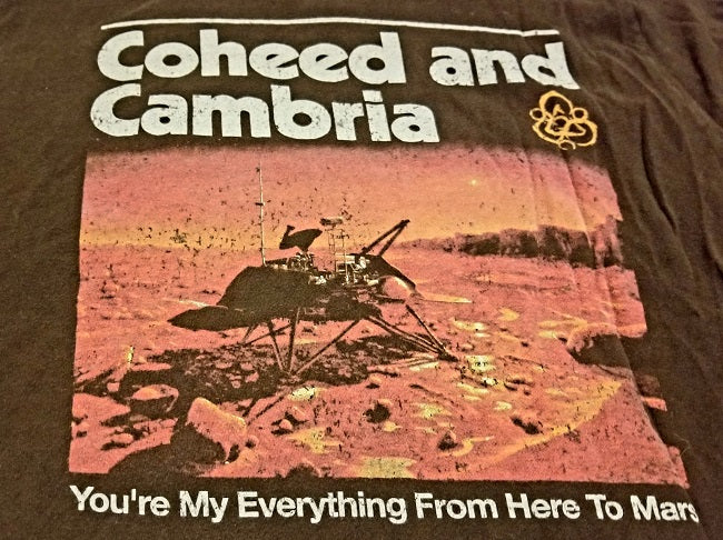 Coheed and Cambria 'You're My Everything From Here To Mars' T-Shirt Men's Large