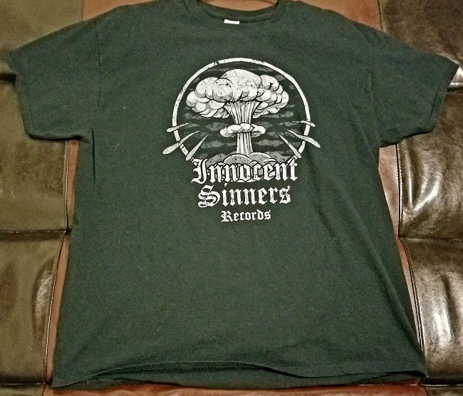 Innocent Sinners Records T-Shirt Men's XL- Hardcore Record Label