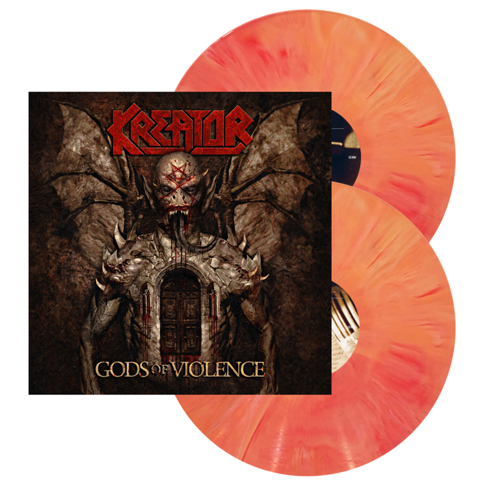 Kreator LP, Gods of Violence, NEW, (Sherbert DLP), 2 LP