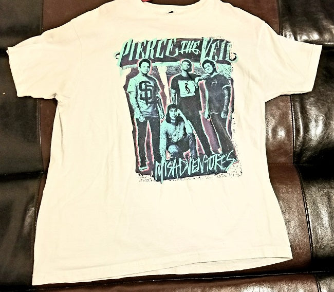 Pierce the Veil Misadventures T-Shirt - Men's Large (L) - White