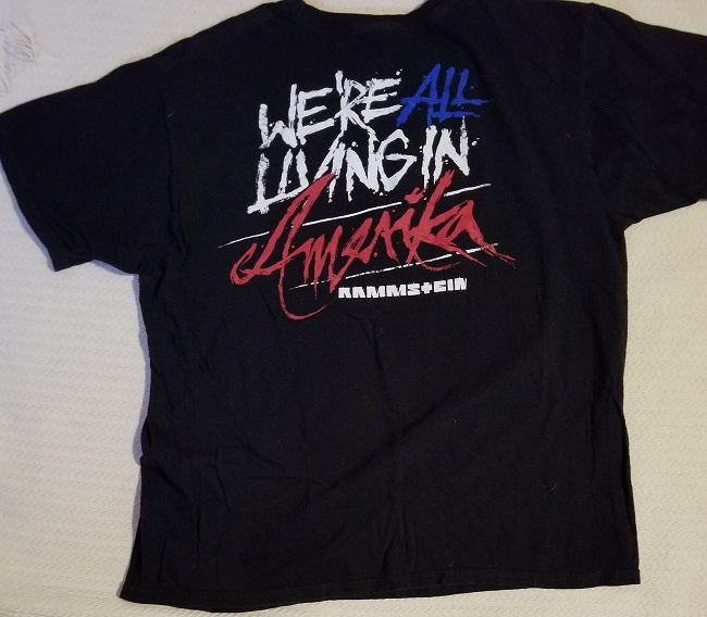 Original Rammstein 'Living in Amerika' Tour T-Shirt - Men's X-Large (XL)