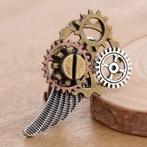 'Gear Angel' Steampunk Ring