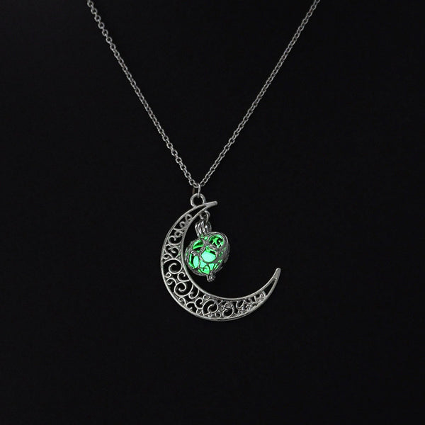 Mystic Moon Glow In The Dark Necklace