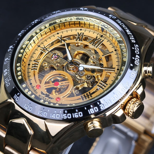 Golden Night Luxury Steampunk Watch