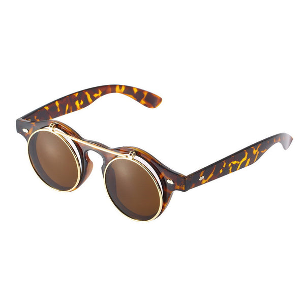 Retro Flip Up Steampunk Sunglasses
