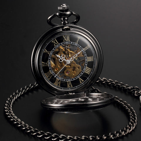 The Black Pearl Retro Steampunk Pocket Watch