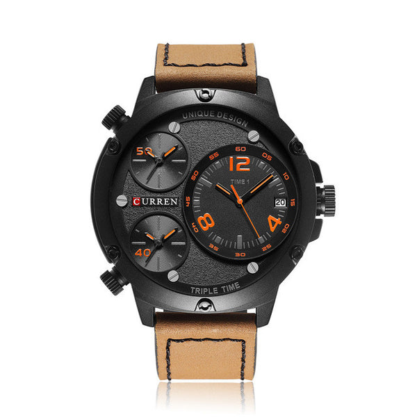 'The Rebel' Leather Quartz Watch