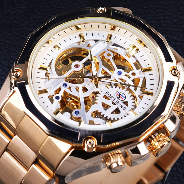 Steampunk Skeleton Mechanical Movement Watch