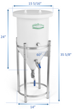 8 Gallon Conical Fermenter (f8x)