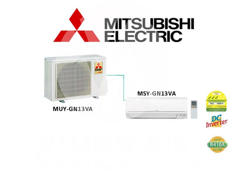 Mitsubishi Electric Starmex Single Split Inverter Aircon: MUY-GN13VA / MSY-GN13VA (12000 BTU) √√√ NEW!