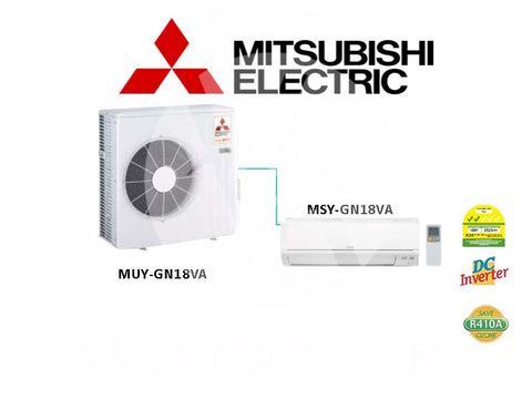 Mitsubishi Electric Starmex Single Split Inverter Aircon: MUY-GN18VA / MSY-GN18VA (18000 BTU) √√√ NEW!