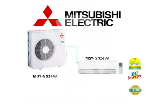 Mitsubishi Electric Starmex Single Split Inverter Aircon: MUY-GN24VA / MSY-GN24VA (24000 BTU) √√√ New!