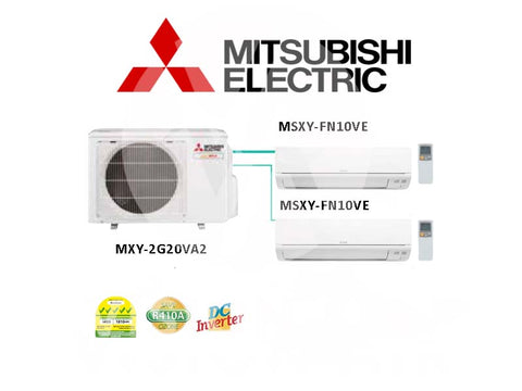 Mitsubishi Electric Starmex System 2 Inverter (5 Ticks) NEW: MXY-2G20VA2 / 2 X MSXY-FN10VE
