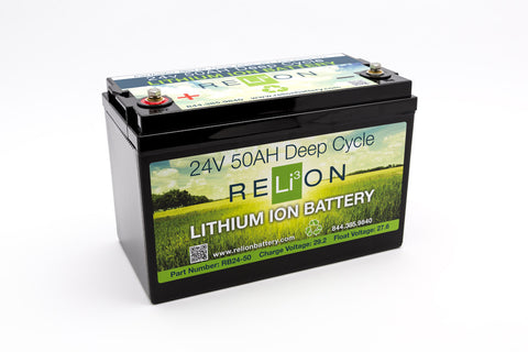 24V 50AH RELiON Lithium Battery