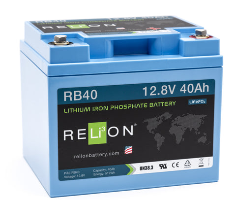 12V 40Ah RELiON Lithium Battery