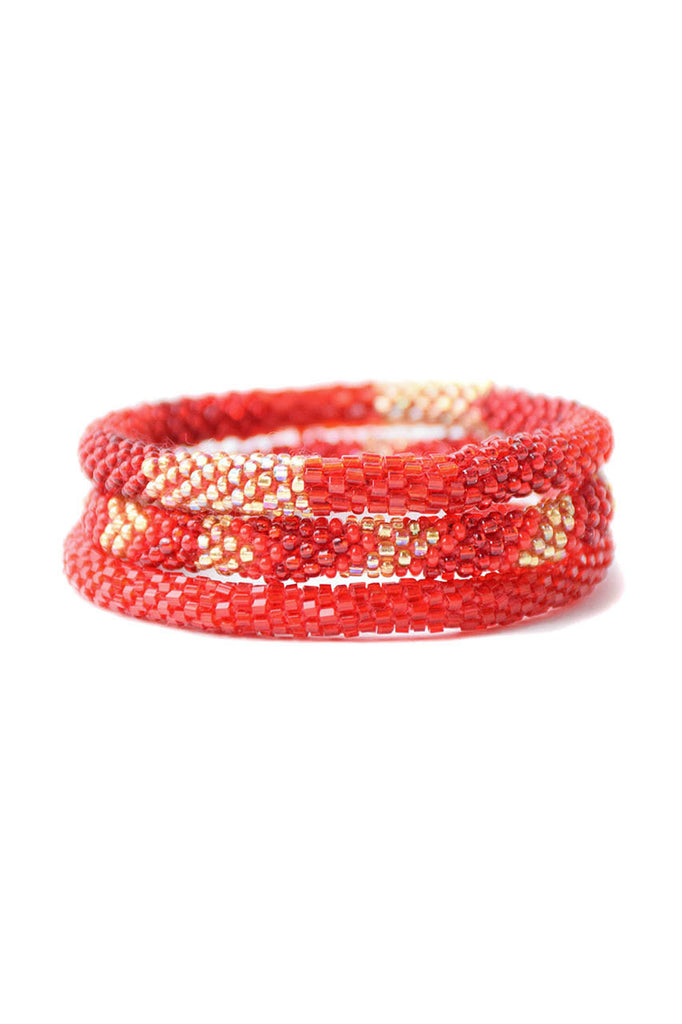 Red Roll On Bracelets