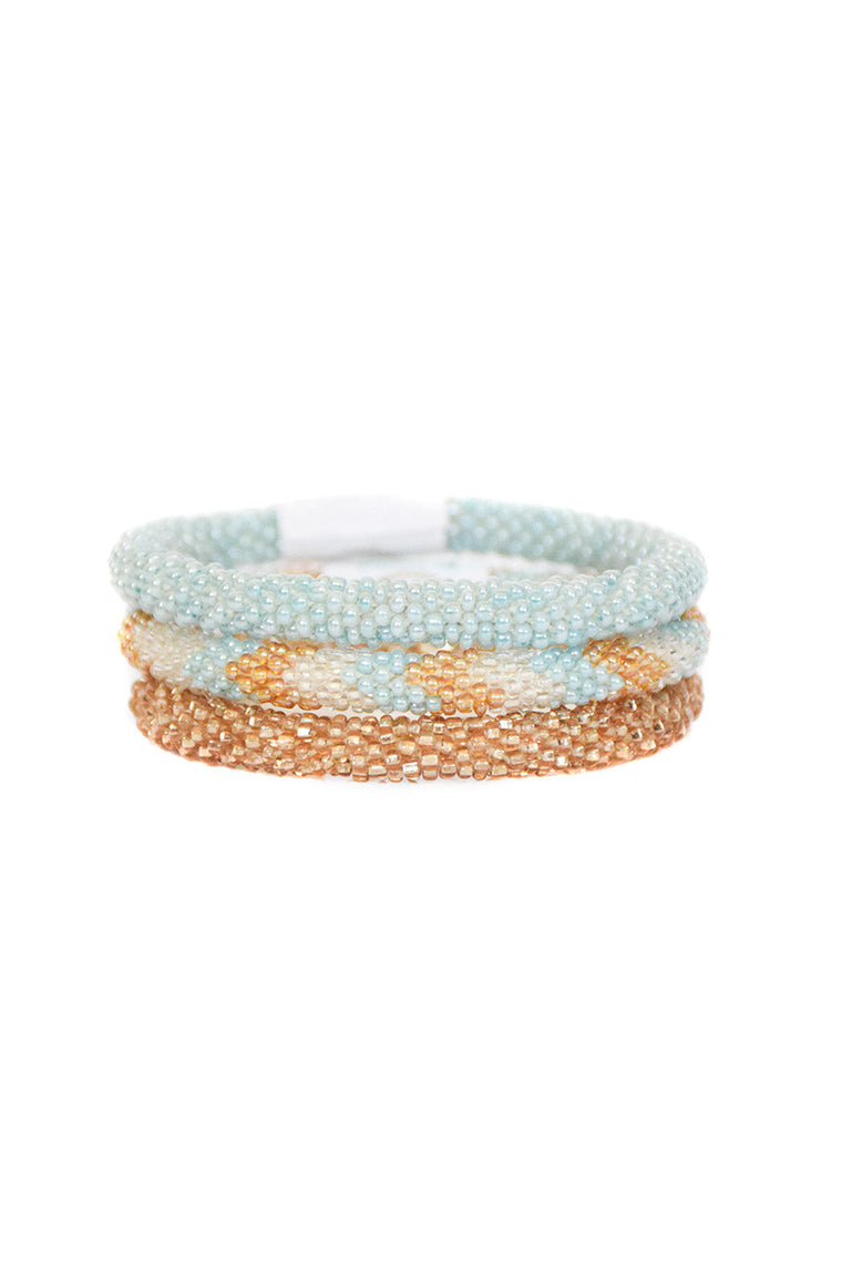 ethical bracelet golden azure