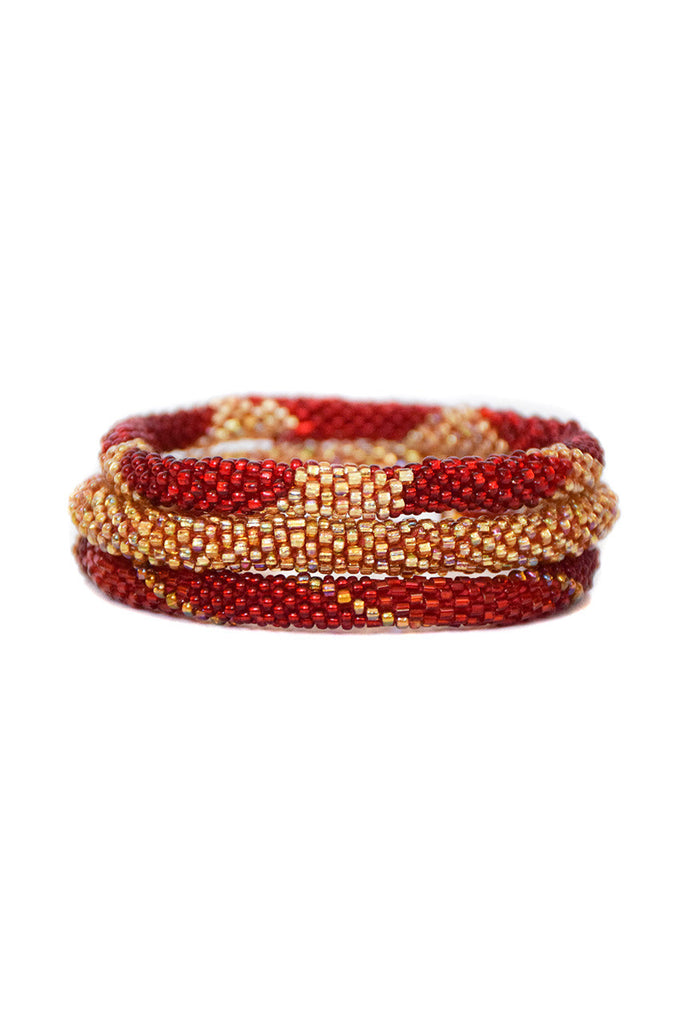 ethical bracelet gleeful red