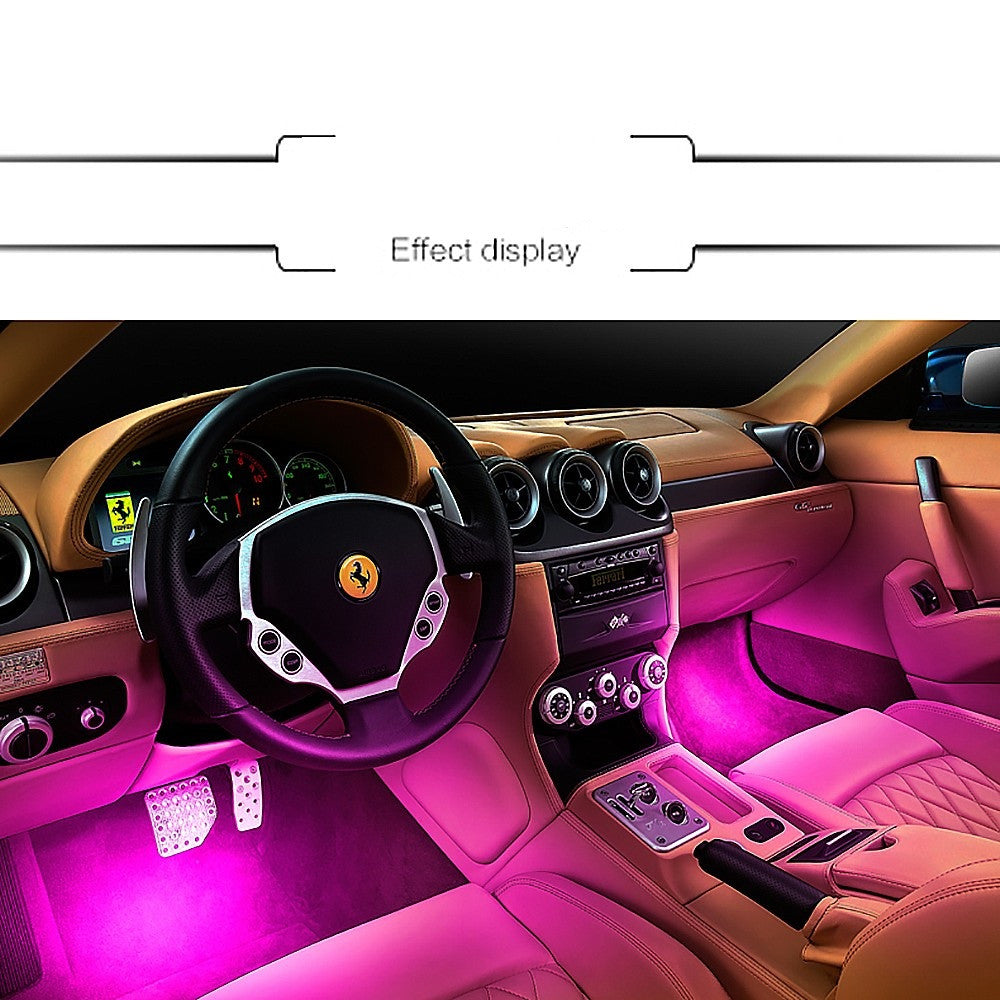 4x 3 LED Car Charge 12V 4W Atmosphere Lamp Glow Light Car Interior