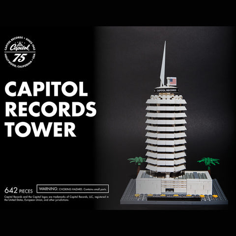 Capitol Records Tower Building Set Made with LEGO® Bricks