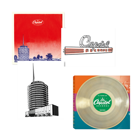 75 Years of Capitol Records Book + 3 Lithographs