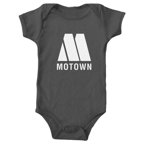 Motown Baby Onesie Charcoal