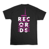 Records Stacked Black T-Shirt