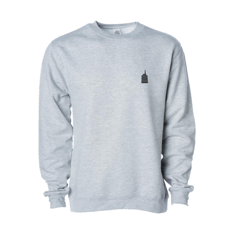 Capitol Tower Logo Stitched Grey Crewneck