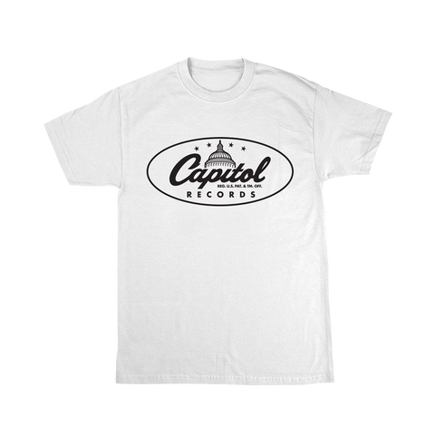 Capitol Records Classic Logo White T-Shirt