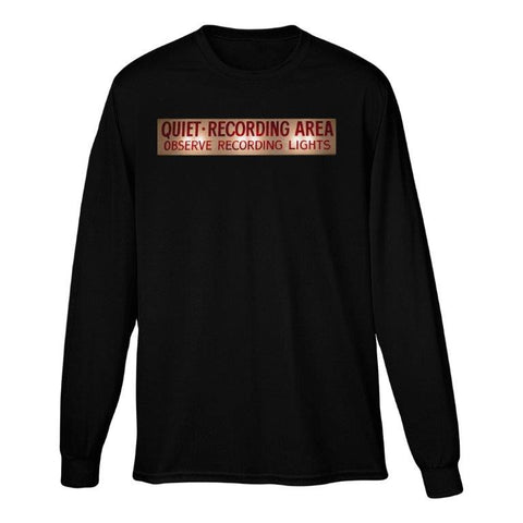 Capitol Studios Quiet Recording Long Sleeve T-Shirt Black