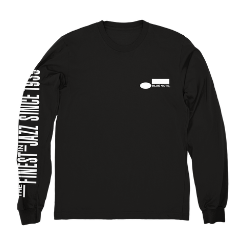 Blue Note Long Sleeve Logo Black Shirt