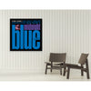 Midnight Blue Framed Canvas Art