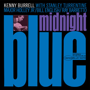 Kenny Burell - Midnight Blue Framed Canvas Wall Art