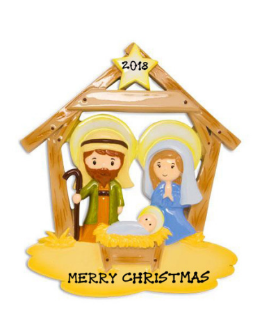 Personalized Ornament: Jesus in the Manger