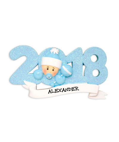 Personalized Ornament: 2018 Baby's First (Pink or Blue)