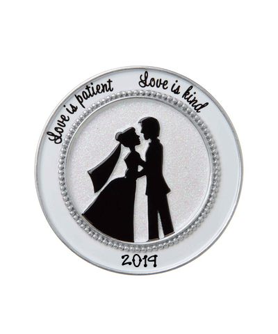Personalized Ornament: Bride & Groom Silhouette