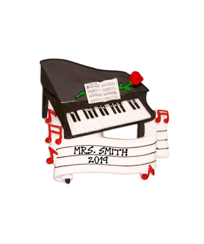 Personalized Ornament: Piano