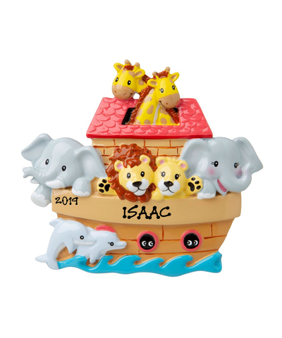 Personalized Ornament: Noah's Ark