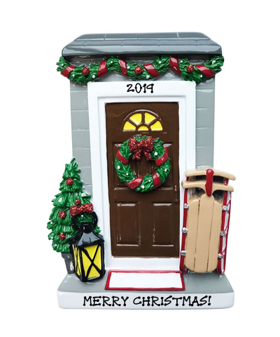 Personalized Ornament: Christmas Door