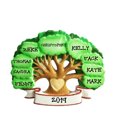 Personalized Ornament: Family Tree