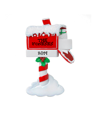 Personalized Ornament: Christmas Mailbox