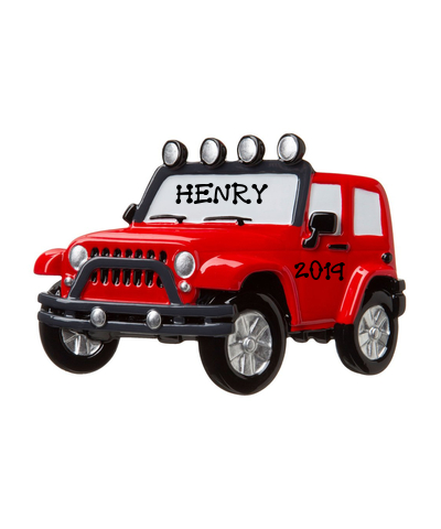 Personalized Ornament: Jeep