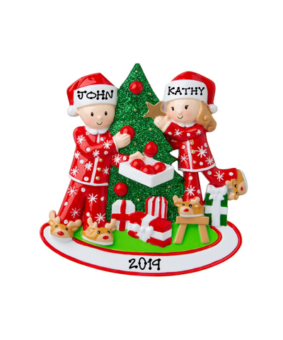 Personalized Ornament: Couple Decorating Tree