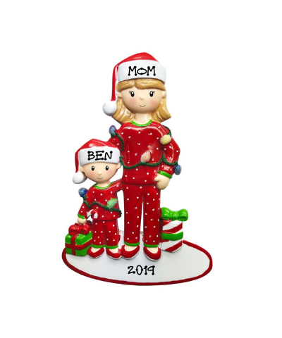 Personalized Ornament: Mom with Children (Click to see more size options)