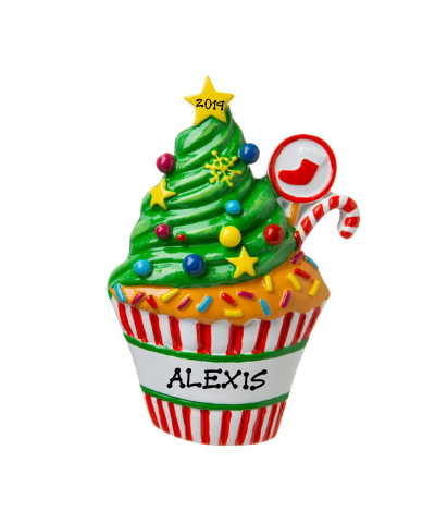 Personalized Ornament: Christmas Cupcake