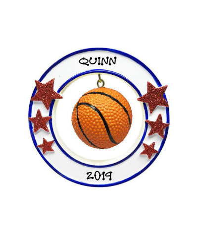 Personalized Ornament: Basketball